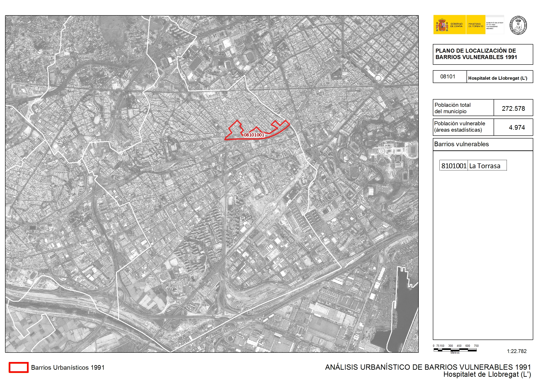 Mapa De L Hospitalet.Analisis Urbanistico De Barrios Vulnerables L Hospitalet