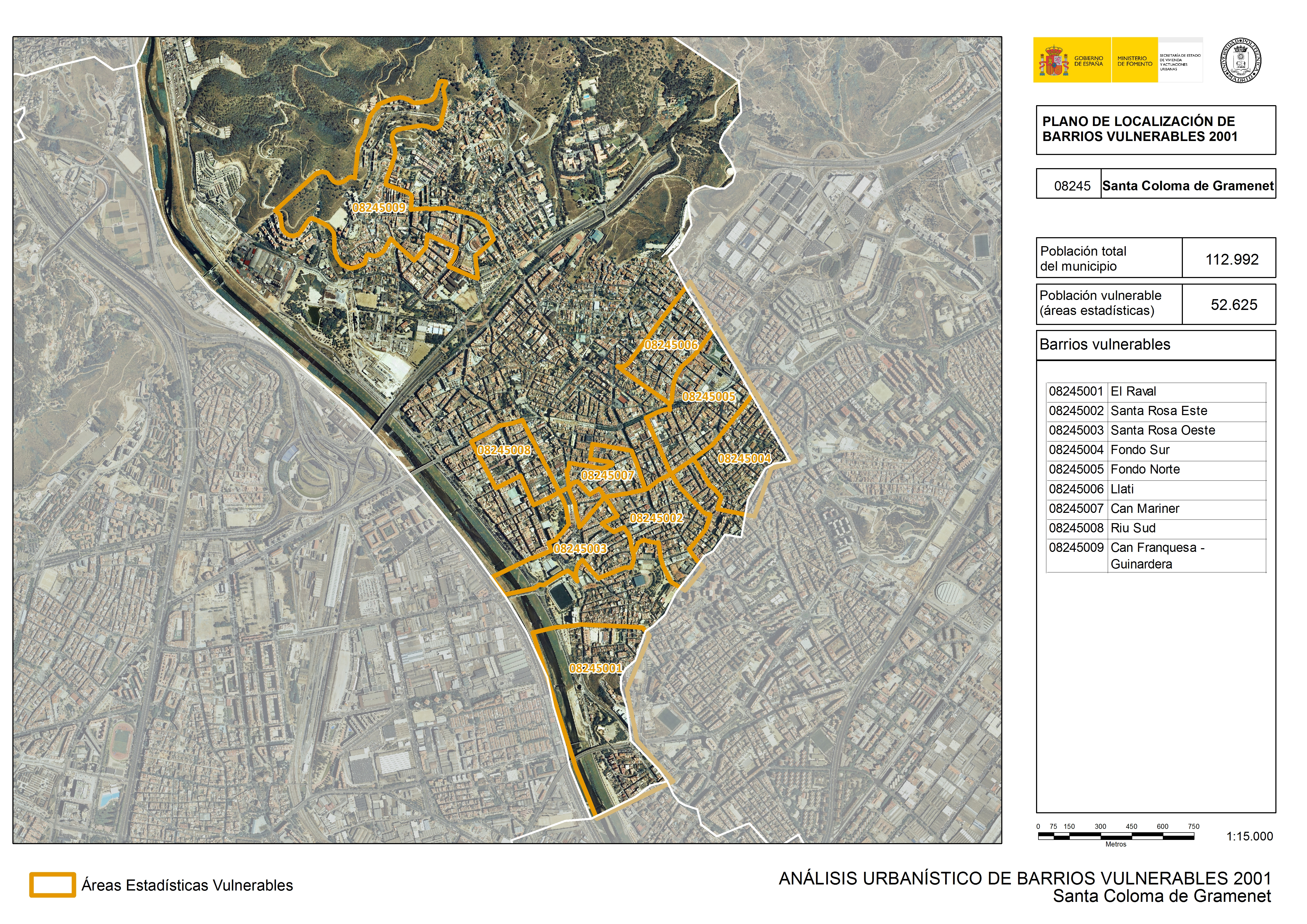 An lisis urban stico de barrios vulnerables santa for Chiquipark en santa coloma de gramenet
