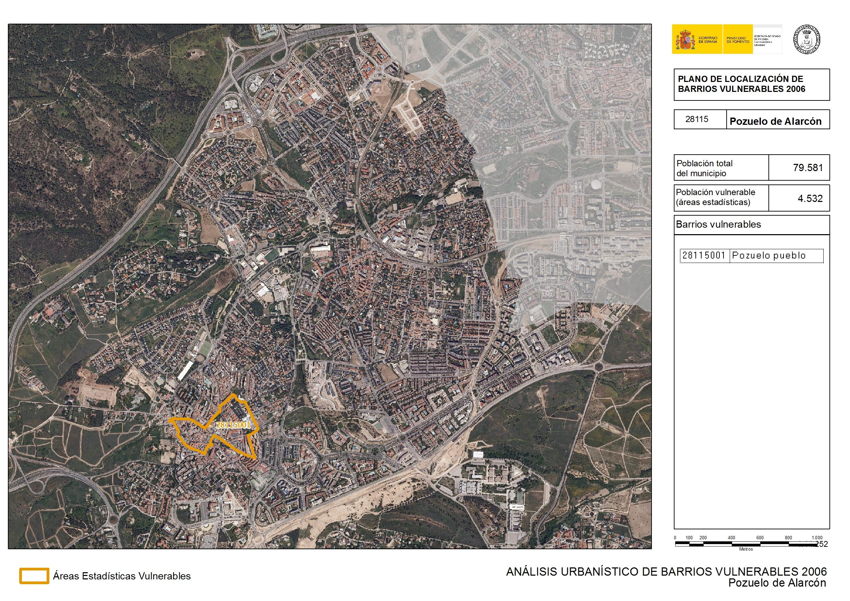 Pozuelo De Alarcon Mapa.Analisis Urbanistico De Barrios Vulnerables Pozuelo De