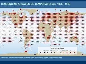 Tendencias anuales de la temperatura