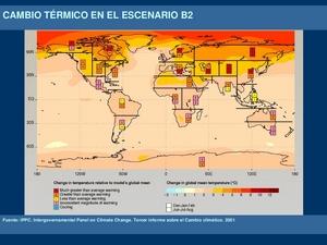 Cambio térmico en el escenario B2