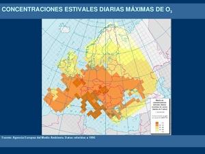 Concentraciones diarias máximas de ozono